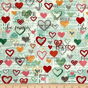 Vintage Valentine Toile Mint - Discount Designer Fabric