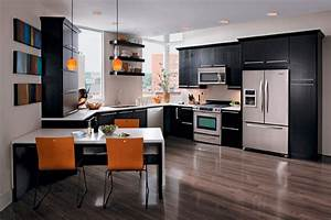 Como decorar cocinas modernas for Best brand of paint for kitchen cabinets with black labrador wall art