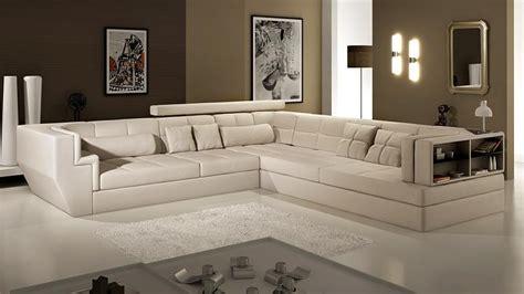 canapé haut de gamme italien canap angle en cuir vachette blanc