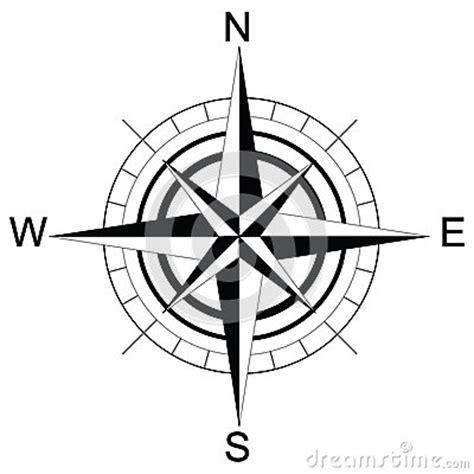 compass black and white black and white compass raster stock illustration image