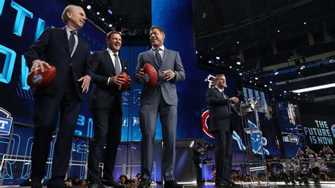 nfl draft coverage   espn fare  fox  nfl