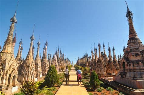 stupas  kakku  inle lake myanmar photo