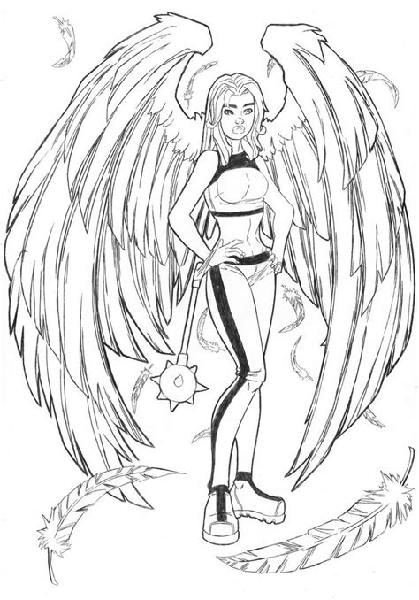Hawkgirl Coloring Pages | Hawk Girl and Super Friends
