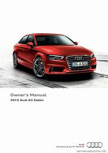 Audi A3 Sedan 2015 8v    3 G Owners Manual  288 Pages