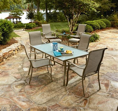 essential garden brighton 9pc patio chair bistro set