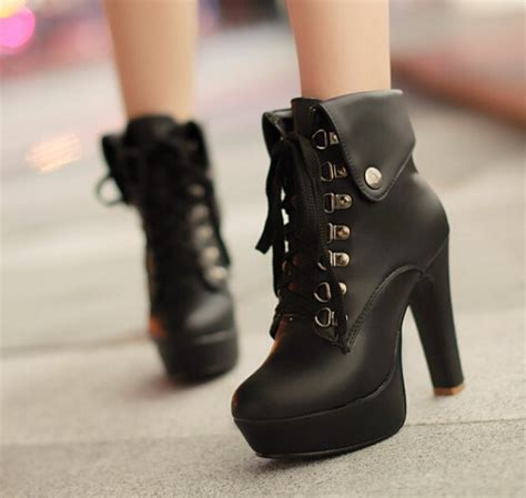 Fashion Cute Heels Martin Boots Kawaii Japan