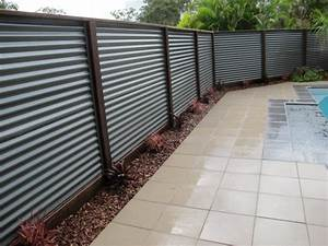 Long Lasting Corrugated Metal Privacy Fence — Fence Ideas