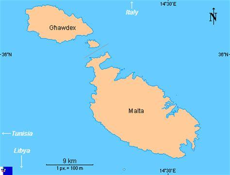 Clickable map of Malta