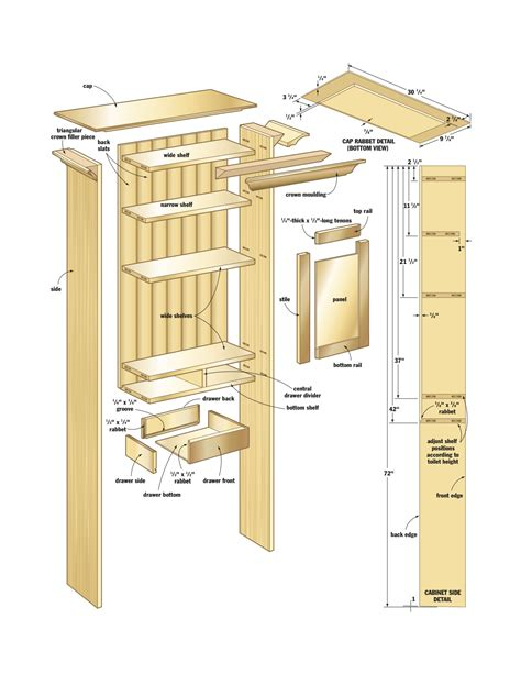 woodwork bathroom cabinet woodworking plans  plans