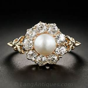 18 insanely gorgeous pearl engagement rings skinny ninja mom With pearl diamond wedding rings