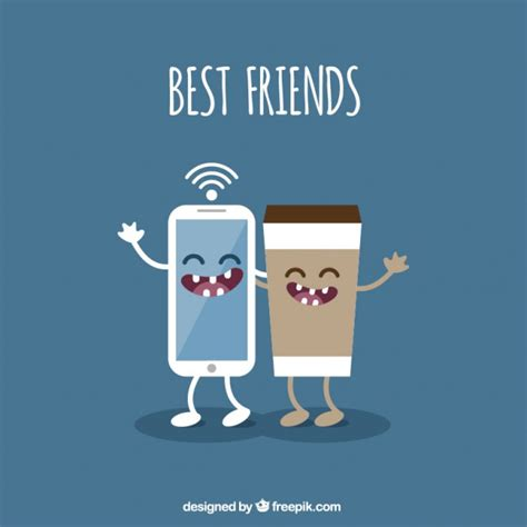 Free Best Friend by Best Friends Illustration Vector Free