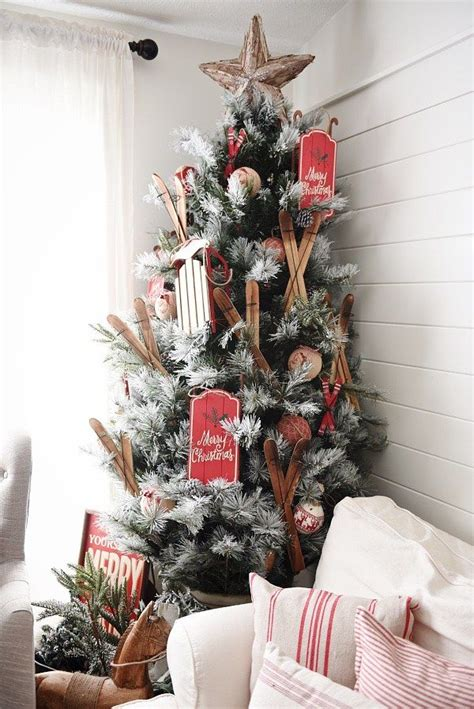 cozy cottage christmas home  love  rustic flocked
