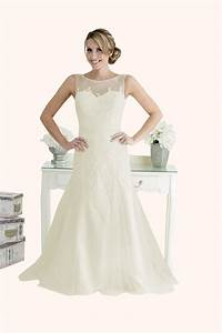 Millie lace and tulle fit and flare wedding dress for Fit and flare tulle wedding dress