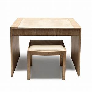 Gallery BAC Desk/dressing table with bench in limed oak