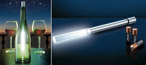 wine bottle led lights an led wand turns your wine bottles into ls without
