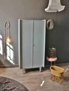 Petite Armoire Penderie : armoire penderie gris perle vendue atelier vintage ~ Preciouscoupons.com Idées de Décoration