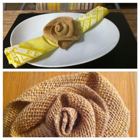 DIY Burlap flower napkin ring tutorial (I'm loving the