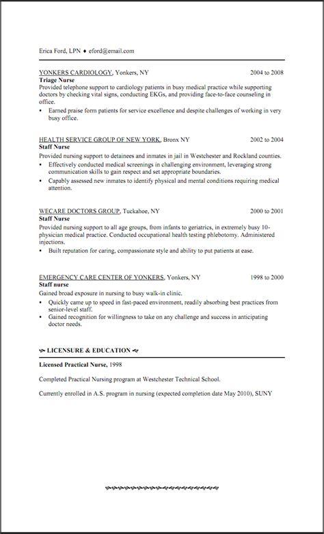 new graduate lpn resume skills lpn resume skills