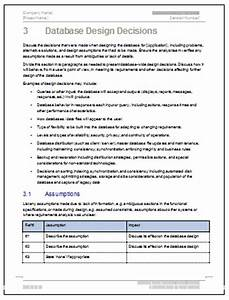 database design document template 26 page ms word data With database documentation template