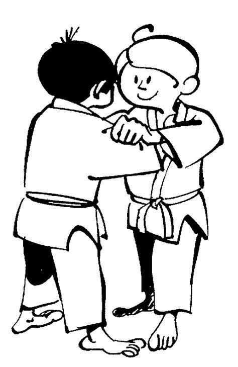 Kleurplaat Judo by Judo Kleurplaten Animaatjes Nl