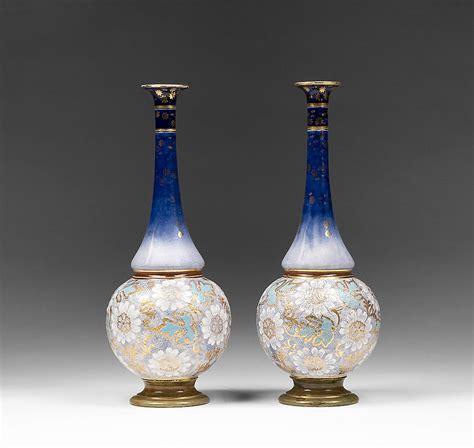 Neck Vases by Royal Doulton Stoneware Neck Vases Floral Tapestry