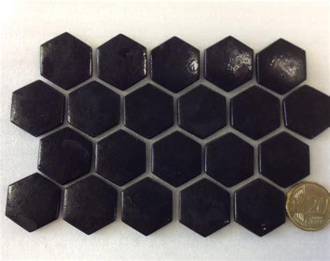cuisine antique romaine mosaïque pâte de verre hexagone noir plaque achat de mosaïque salle de bain hexagonale