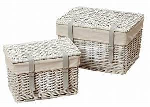 Rattan Box Mit Deckel : truhe rattan shabby chic weidenkorb mit deckel korbtruhe aufbewahrungsbox ~ Bigdaddyawards.com Haus und Dekorationen