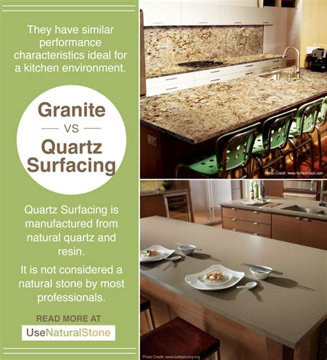 Price Difference Between Quartz And Granite Countertops by Granite Vs Quartz Surface Countertops What Is The