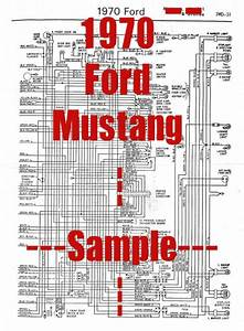 1970 Ford Mustang Full Car Wiring Diagram  High Quality