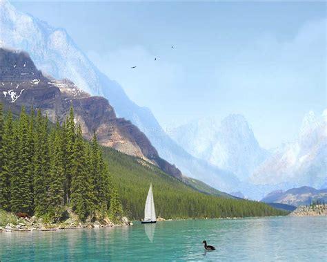 Animated Lake Wallpaper - mountain lake animated wallpaper