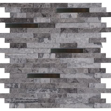 Marble Backsplash Tile Home Depot by Ms International Eclipse Interlocking 12 In X 12 In X 8