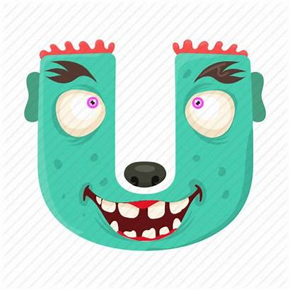 Letter Alphabet Funny English Capital Monster Icon