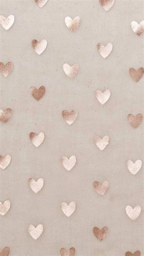heart pattern rose gold iphone wallpaper