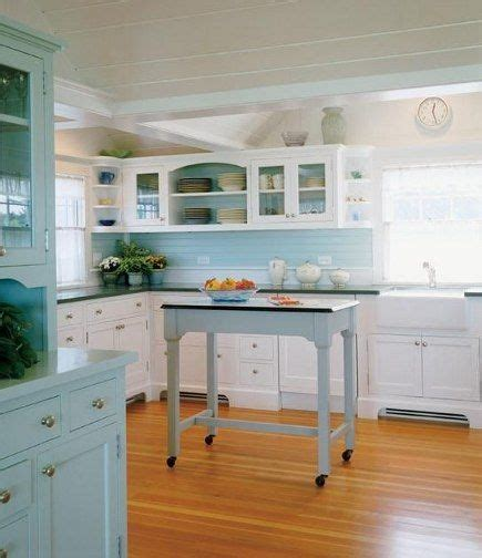 picture of kitchen cabinets sea glass kitchens and rolling island on 4189