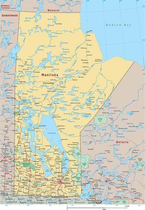 Map Manitoba Canada