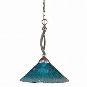 Filament design concord light brushed nickel pendant