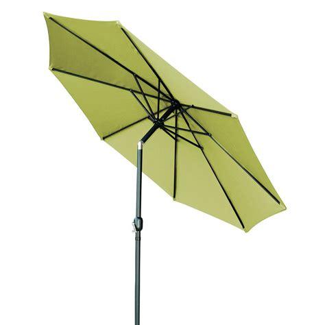 trademark innovations  ft tilt crank patio umbrella  light green umbtilt ltgr  home depot