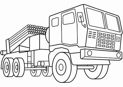 Coloring Army Pages Vehicles Vehicle Rocket Launcher