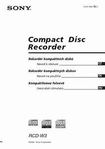 Sony Rcd W3 Others Download Manual For Free Now