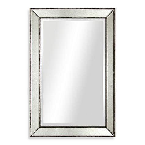 20 X 30 Bathroom Mirror by 30 Inch X 20 Inch Beaded Antique Mirror Bed Bath Beyond
