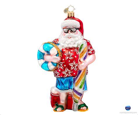 christopher radko all summer santa christmas ornament