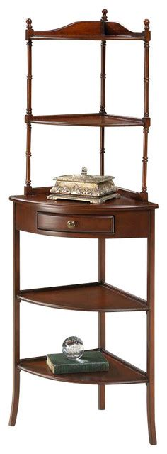 Cherry Etagere by Plantation Cherry Corner Etagere 1740024 Traditional