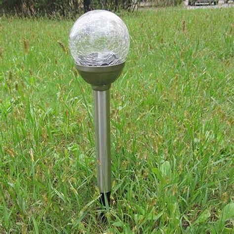 decorative solar yard lights solar crackle glass ball lights garden decor stake yard