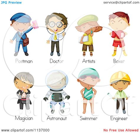12202 different professions clipart of occupation 2 royalty free vector clipart
