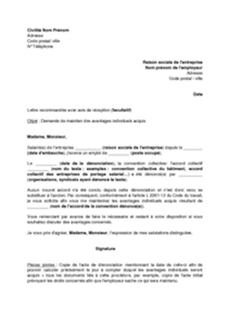 modele de lettre substitution compromis de vente lettre de demande de maintien des avantages individuels