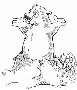 Top 10 Ideas About Groundhog Day Coloring Page On