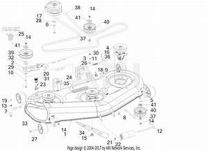 Troy Bilt 17cdcacw066 Mustang Xp 54  2017  Parts Diagram