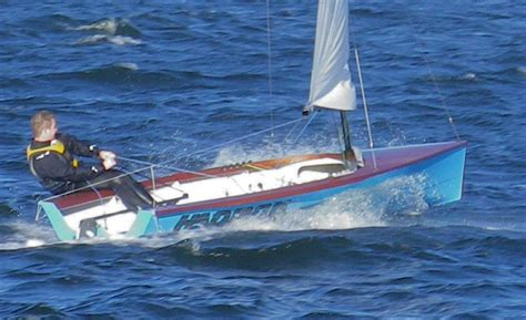 hadron singlehander racing dinghy woodenboat magazine
