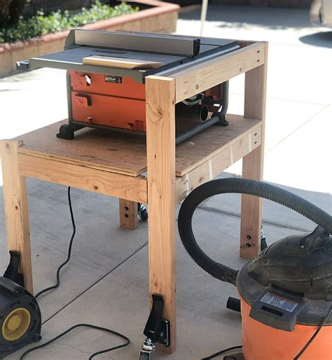 diy table  stand  folding outfeed table plans