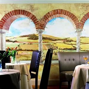 Tuscan View Mural
